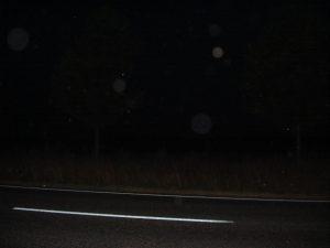 Orbs beim fahren auf der Schnellstraße in Beeskow